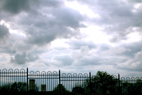 Clouds over tombs