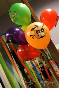 Angry Birds balloons from class friends